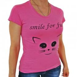 Дамска тениска Smile for fun